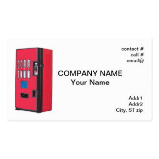 red vending machine business card