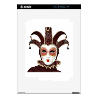 Red Venetian Carnivale Mask Decals For The iPad 2