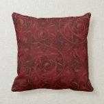 Red Venetian Medley Design Throw Pillow