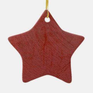 Red Venetian Plaster Faux Finish Ceramic Ornament