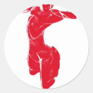 Red Venus of Milo Classic Round Sticker