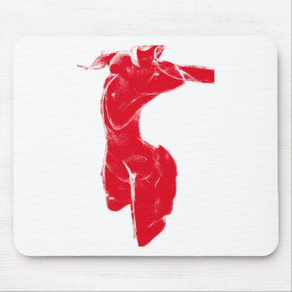 Red Venus of Milo Mouse Pad