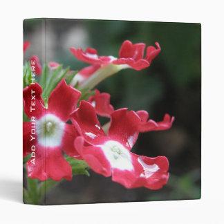 Red Verbena Floral Binder