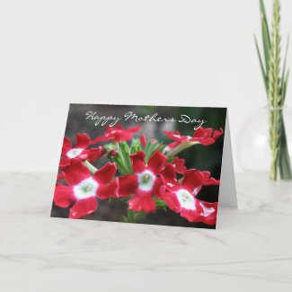Red Verbena:Happy Mothers Day Card card