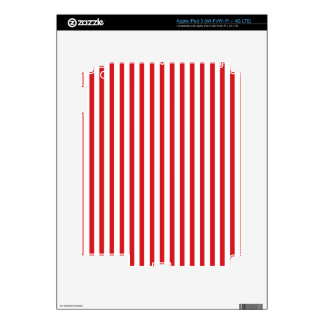 Red Vertical Stripes iPad 3 Decal