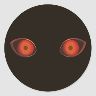 Red Very Evil Eyes Round Stickers