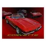 Red Vette collage Poster
