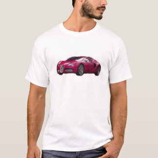 Red Veyron Car Hand Painted Art Brush Template T-Shirt