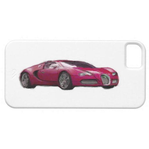 Red Veyron Car Hand Painted Art iPhone 5 Case