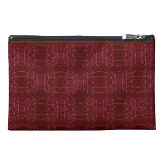Red Vibrant Fractal Travel Accessory Bags