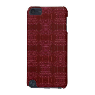 Red Vibrant Fractal Pattern iPod Touch 5G Cover
