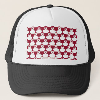 Red Victorian Lace Trucker Hat