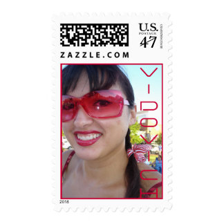 Red Vidovich Girl Smile Postage