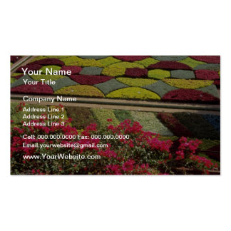 Red Views of public gardens Lugano Switzerland f Business Cards