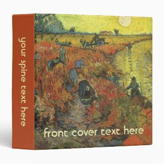 Red Vineyard by van Gogh Vintage Impressionism Art Binder