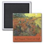 Red Vineyard by van Gogh Vintage Impressionism Art Refrigerator Magnets