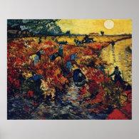 Red Vineyard, Van Gogh Poster