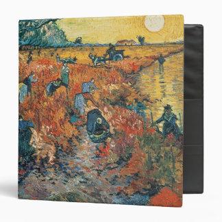 Red Vineyards at Arles, 1888 3 Ring Binder
