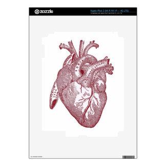 Red Vintage Anatomical Heart iPad 3 Skin