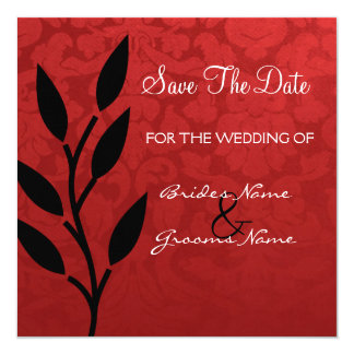 Red Vintage Background Save The Date Invites