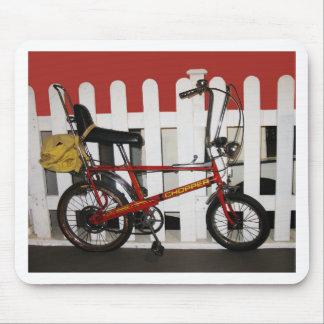 Red vintage bike  retro 1970s chopper mouse pad