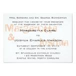 "Red Vintage Brick Graffiti Wedding Invitation 5"" X 7"" Invitation Card"
