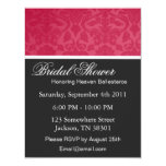 "Red Vintage   Bridal Shower Invitations 4.25"" X 5.5"" Invitation Card"