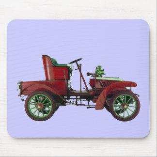 RED VINTAGE CAR,CLASSIC AUTOMOTIVE Blue Mouse Pad