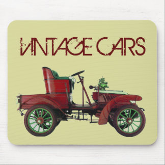 RED VINTAGE CAR,CLASSIC AUTOMOTIVE, Cream Mouse Pad