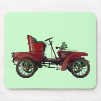 RED VINTAGE CAR,CLASSIC AUTOMOTIVE Green Mouse Pad