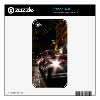 Red Vintage Car iPhone 4/4S Skin Decals For iPhone 4S