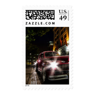 Red Vintage Car Postage Stamp