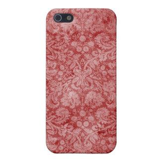 Red Vintage Cloth Damask iPhone 4 Case