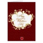 Red Vintage Elegant Valentines Day Card
