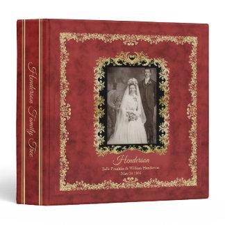 Red Vintage Family Tree Genealogy Binder