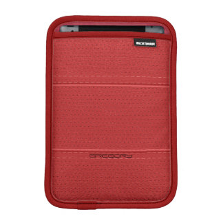 Red Vintage Faux Leather With Stitches Accents iPad Mini Sleeve