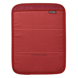 Red Vintage Faux Leather With Stitches Accents iPad Sleeve