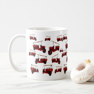 Red Vintage Fire Engine With Ladder Pattern, Coffee Mug