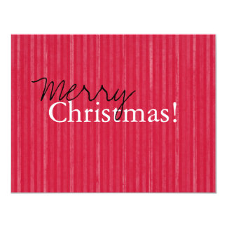 Red Vintage Flat Merry Christmas Cards