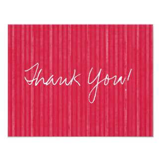 Red Vintage Flat Thank You Cards