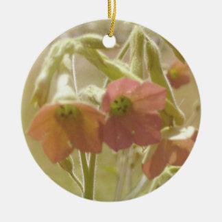 Red vintage flowers ornament