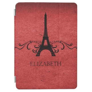 Red Vintage French Flourish iPad Air Cover