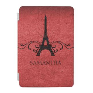Red Vintage French Flourish iPad Mini Cover