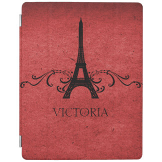 Red Vintage French Flourish iPad Cover