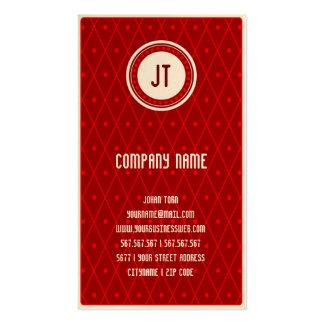 Red Vintage Gambler Cowboy Business Card