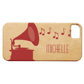 Red Vintage Gramophone BT iPhone 5 Case