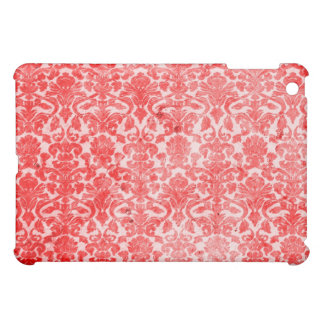 Red Vintage Grunge Damask  iPad Mini Cover