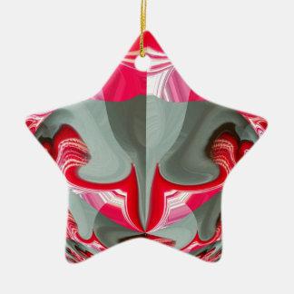 Red Vintage Hakuna Matata round gifts.jpg Ceramic Ornament