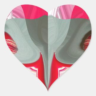 Red Vintage Hakuna Matata round gifts.jpg Heart Sticker