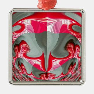 Red Vintage Hakuna Matata round gifts.jpg Metal Ornament